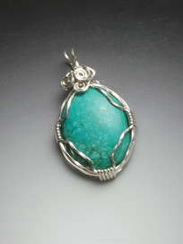 Tibetan Turquoise in Sterling