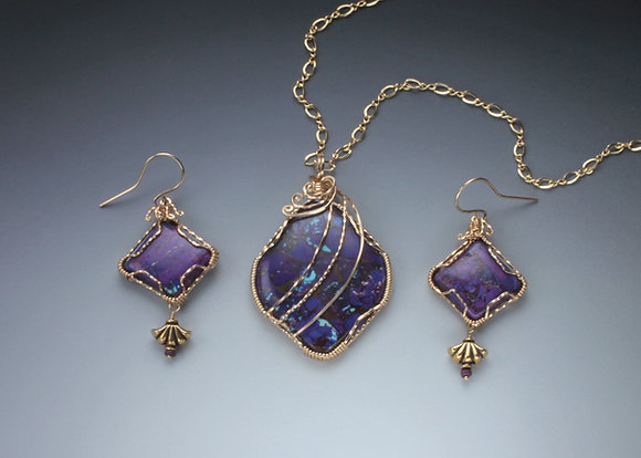 Deep Purple Mohave Turquoise  set