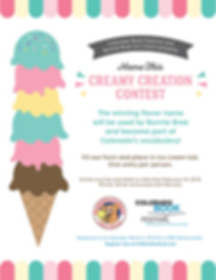 Colorado Book Festival Creamy Creation Contest Sponsored by Bonnie Brae