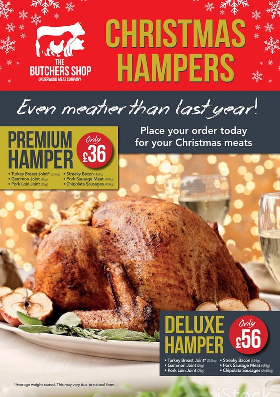 Excellent value Christmas hampers