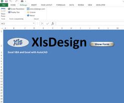 XlsDesign Search Form Ribbon
