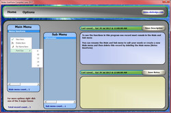 Excel Notes Form Main Menu