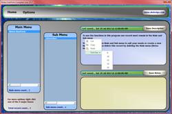 Excel Notes Form Description Menu