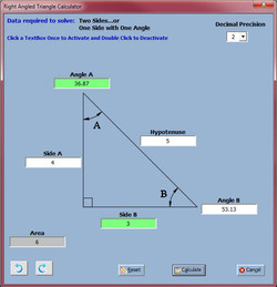 Right Angled Triangle Rotated