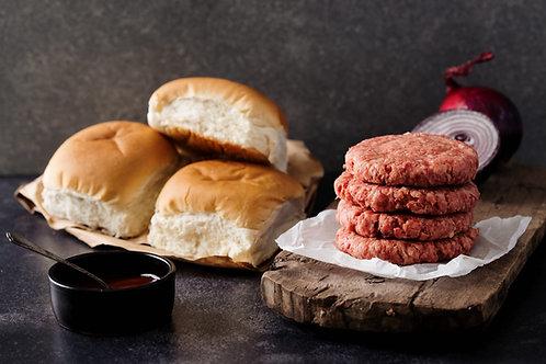 Beef Chilli Steak Burger (4 x 4oz)