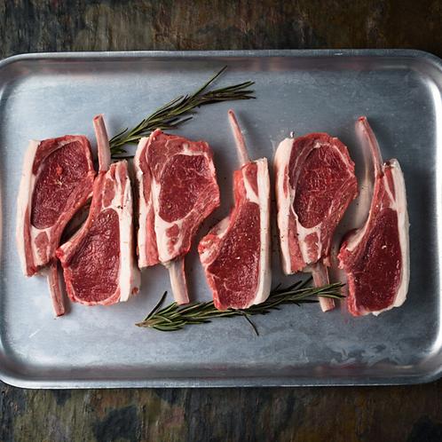 Minted lamb chop trios