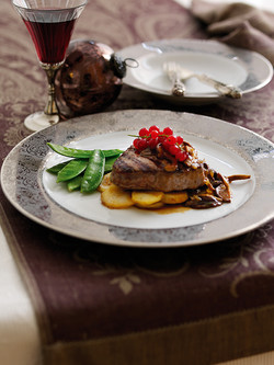 Beef Fillets with Wild Mushrooms and Armagnac Sauce