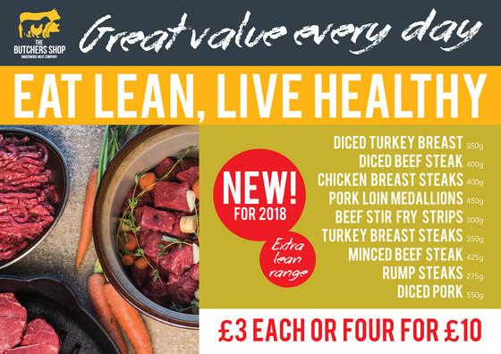 Eat Lean, Live Healthy - New Range