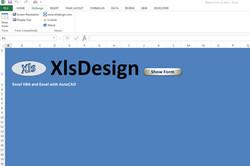 XlsDesign Notes Form Ribbon