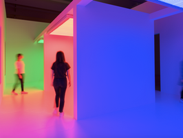 The Chromosaturation is currently on view at MOCA