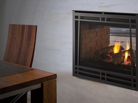 Heatilator's Unique Three-Sided Peninsula Natural Gas Fireplace Shines