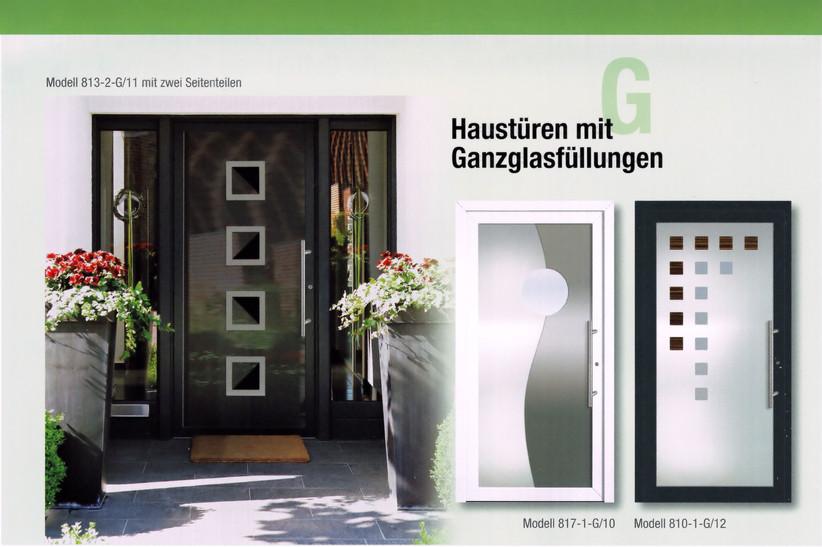 Haustüren mit Ganzglasfüllung