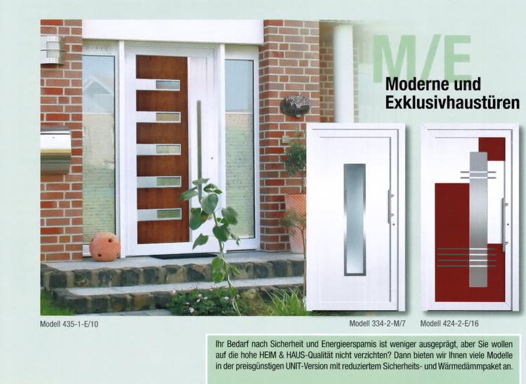 Moderne Exklusivhaustüren