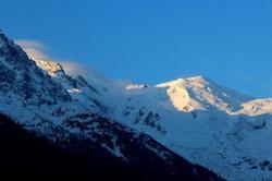 mont blanc à l'aube