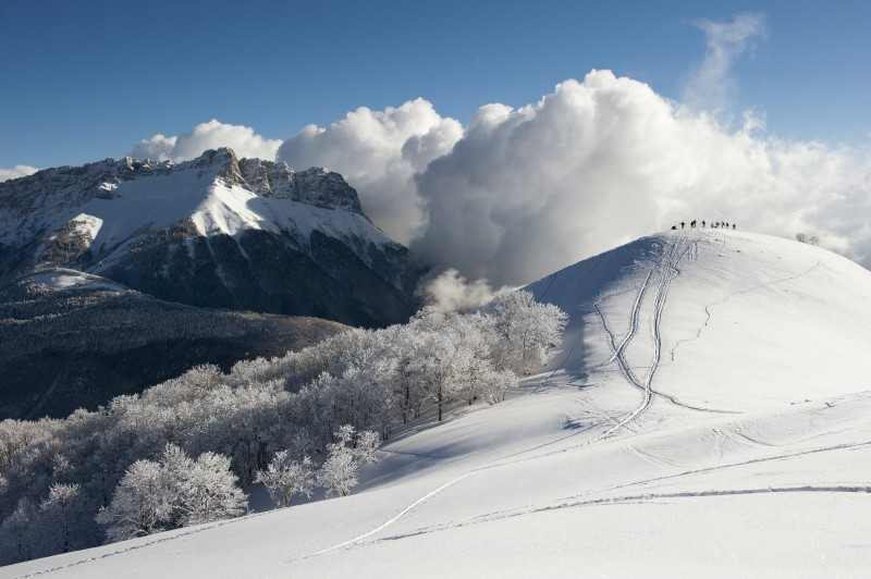 neige en Bauges