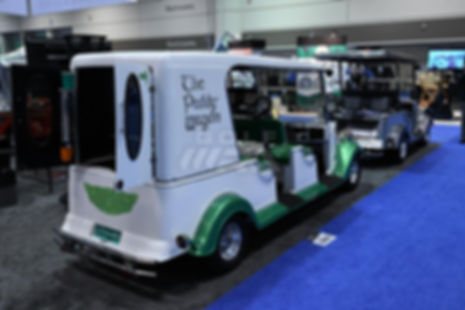 Streetrod Golf Cars - Irish Paddy Wagon - Beverage Drinks Cocktails - PGA Show - Luxury Custom Golf Cart Car