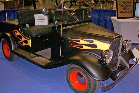 Streetrod Golf Cars - Vintage - Coupe - Flames Hotrod Hot Rod - Custom Gol Cart - PGA Show
