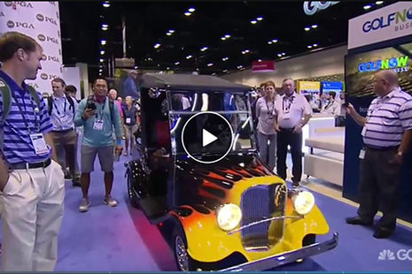 Streetrod Golf Cars - Vintage Convertible - Custom Golf Cart - Flames - The Golf Channel