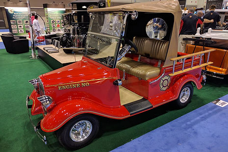 Streetrod Golf Cars - Vintage - Global Golf Post - PGA Show - Firetruck - Custom Golf Cart