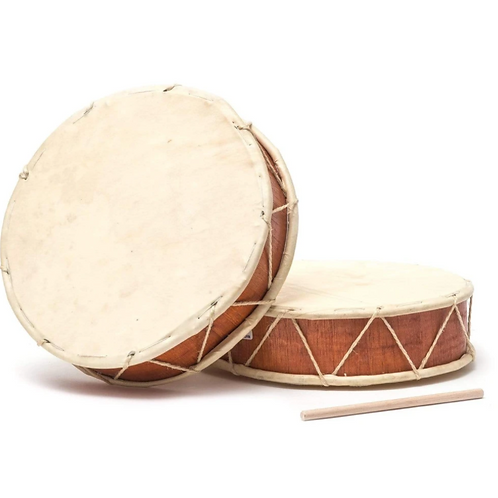 Peruvian Round Two-Sided Hand Drum - 10 in