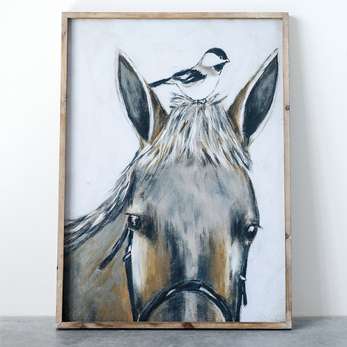 Chickadee and Me Framed Picture
