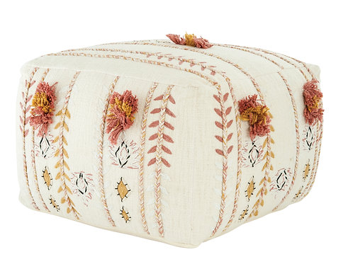 Misty Rose Pouf front view