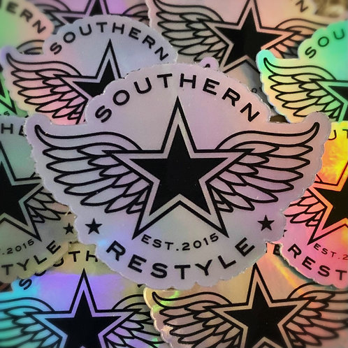Winged Star Shimmer Sticker