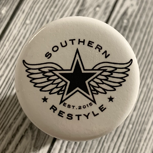 Winged Star Logo Button Pin