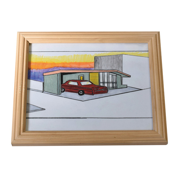 suset from car house