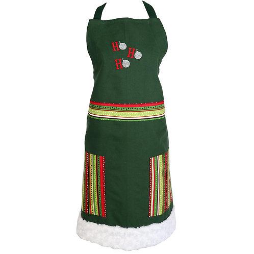 Christmas Ho Ho Ho Apron - Green