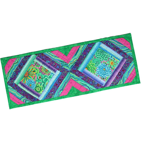 Quilted Table Runner - Multicolor Diamond