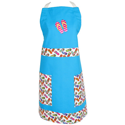 Flip Flop Apron - Caribbean Blue