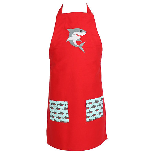 Youth Shark Apron - Red