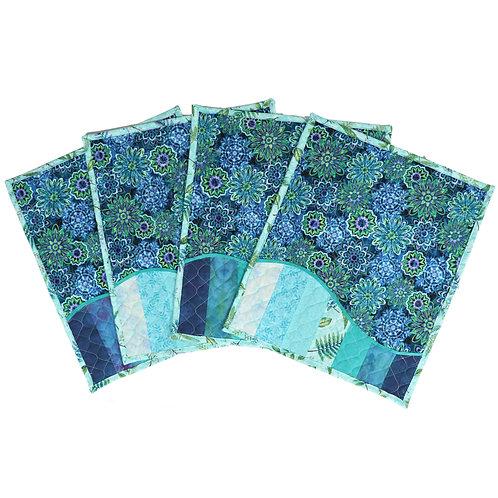 Placemat - Blue Floral Wave