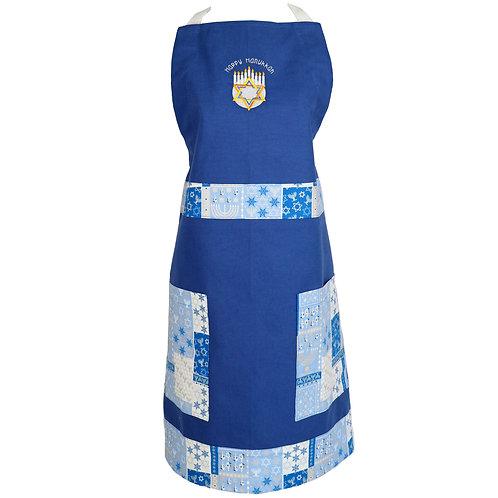 Hanukkah Apron - Blue