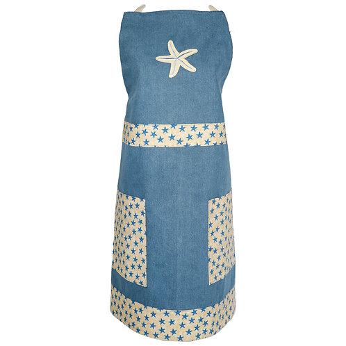 Starfish Apron - Denim Blue