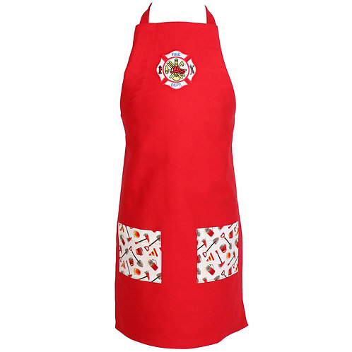 Youth Firefighter Apron - Red