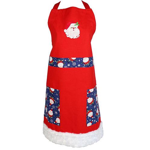 Christmas Santa Apron - Red