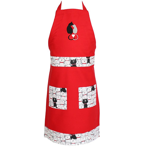 Youth Cats Apron - Red