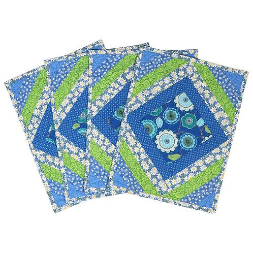 Placemat - Blue Green Diamond