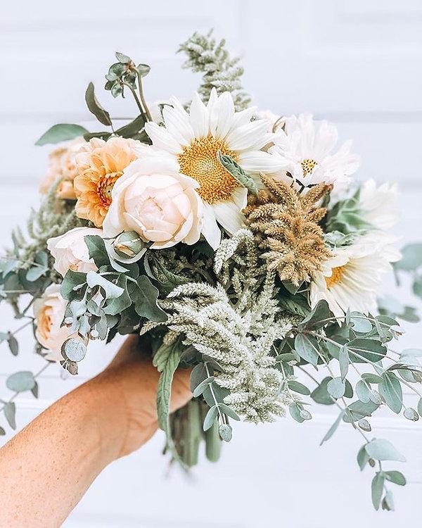 a farm fresh bridal bouquet • back of th