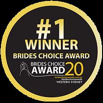 2020 Western Sydney Bride's Choice Award Winner