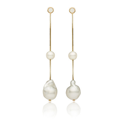 Pearl, Three Ways Earrings