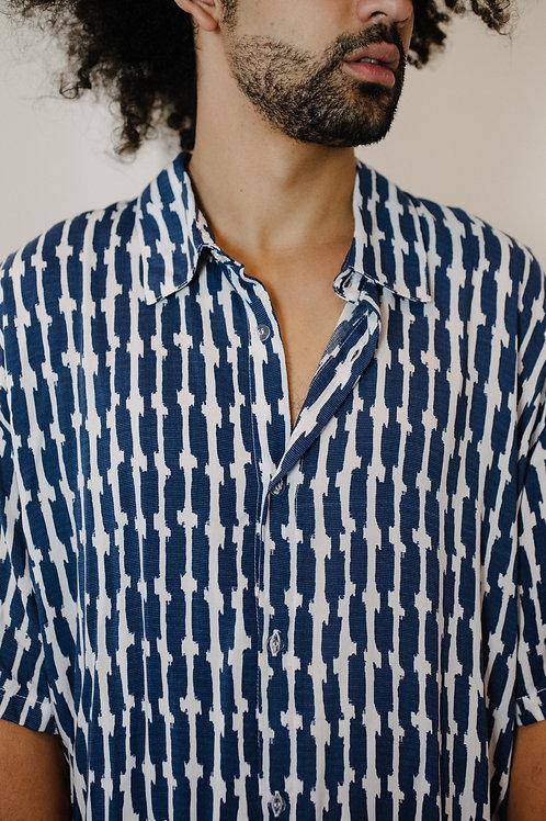 Camisa GEO AZUL Stitch AGÊNERO