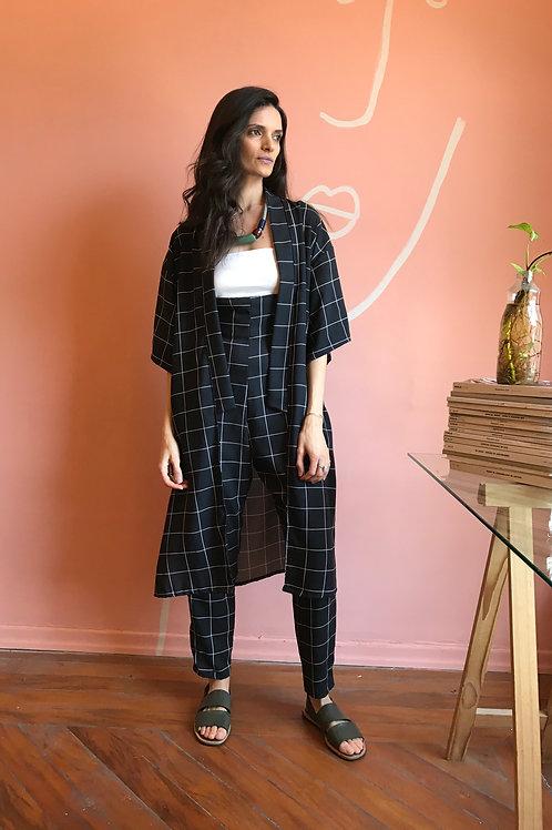 Kimono Arrasex Grid Preto