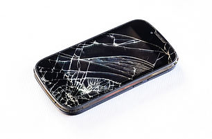Mobile smartphone and screen damage brok