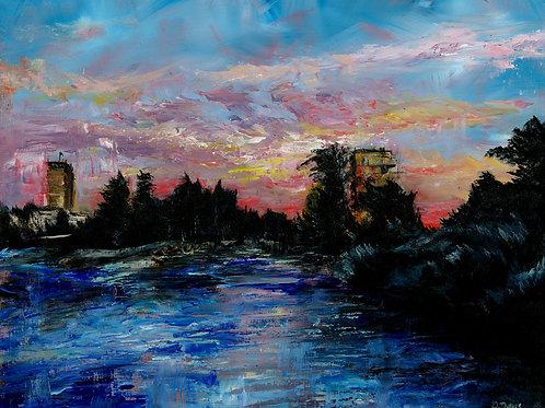 Riverside at Sunset