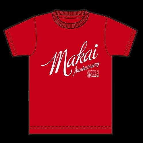 ニューカラー・5周年記念Tシャツ-赤ボディ-