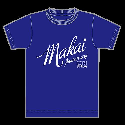 ニューカラー・5周年記念Tシャツ-青ボディ-