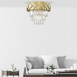 Křišťálový lustr zlatý